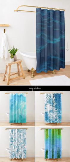 Water Themed Shower Curtains by Menega Sabidussi more @redbubble #showercurtains #bathroom #decor #homedecor #homedecorideas #duschvorhang #redbubble #shower #gifts #geschenkideen #interior #interiordesign
