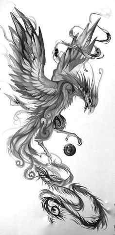 I don& know if it sounds beautiful, but I& looking for something of the most symb phoenix . - I don& know if it sounds beautiful, but I& looking for something of the most symbolic p - Phoenix Artwork, Dragon Artwork, Phoenix Design, Phoenix Tattoo Design, Body Art Tattoos, Small Tattoos, Sleeve Tattoos, Tattoos Skull, Tattoo Sketches