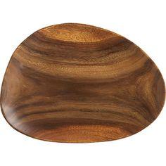 "Acacia Wood 15.75""x12.25"" Platter in Serving Platters | Crate and Barrel"