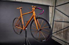 Custom Z-Zero: Pearlized Kandy Purple // Pearlized Kandy Orange // All Components Custom Matched Bmx Bikes, Road Bikes, Cycling Bikes, Bicycle Paint Job, Bicycle Painting, Bicycle Garage, Girls Mac, Orange Candy, Fixed Gear Bike