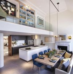 internal balcony / landing over double height kitchen