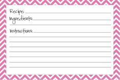 14 Free Bridal Recipe Card Printable | visit www.freetemplateideas.com
