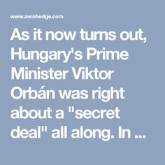 """As it now turns out, Hungary's Prime Minister Viktor Orbán was right about a """"secret deal"""" all along. In a government report published last month by the German newspaper Rheinische Post, experts recommended an annual intake of up to 300,000 migrants a year for the next 40 years, to counter lower German birth rates. As they embark on a bizarre social engineering project on a continental scale, members of Germany's political class evidently do not see the need to consult even their own…"""