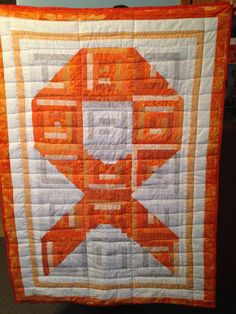 Leukemia Ribbon Cancer Quilt by MyelomaCrafter on Etsy