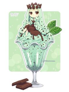 food (Chibi) (Anime) the lovely nails - Lovely Nails Manga Kawaii, Kawaii Chibi, Kawaii Art, Anime Pokemon, Cute Anime Chibi, Cute Food Drawings, Kawaii Drawings, Chibi Food, Chibi Characters