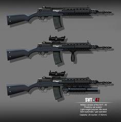 SVT-45/47 Battle-Rifles Modernised Simonov SVT