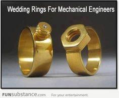 Wedding rings for mechanical engineers