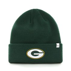 Green Bay Packers Cuffed Knit Hat One Size Fits All bbbead1f6
