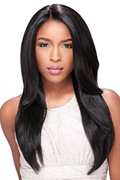"Premier Crown Hair 8A Human Hair Glueless Full Lace Wig Virgin Brazilian Natural Straight Hair Wigs 130% Denisity Natural Color For Women (16"" full lace wig) ** You can get additional details at the image link."