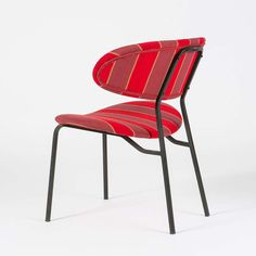 Anonymous; Enameled Metal Chair, 1950s.