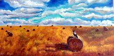 Original Oil Painting Field Harvest Canada by JennyYaoCanvas