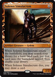 Solemn Simulacrum Masterpiece Series Kaladesh Inventions Magic the Gathering card