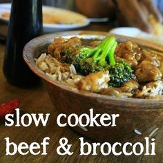 Slow Cooker Beef & Broccoli - One Punky Mama #Crockpot #Asian #Beef