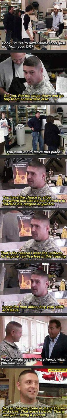 Good guy soldier…