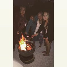All the girlies toastin marshmallows at the firepit....and lovin it!!!!!