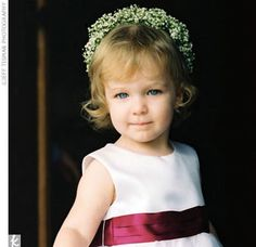 I love her little headband - baby's breath!