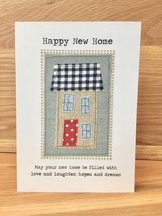 New Home Card Moving Home Card Handmade Applique Greeting