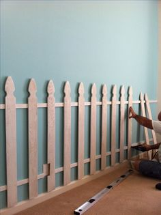 Picket Fence as a bedroom wall decor.