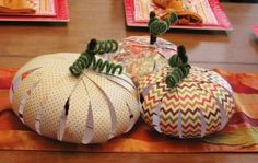 Cute.  I have also seen this done with solid strips of orange with what you are thankful for written on each strip.  Thankful Pumpkins