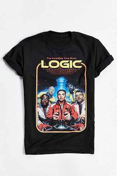 4b73c3a9a88 Logic  80s Tee ( 28) ❤ liked on Polyvore featuring men s fashion