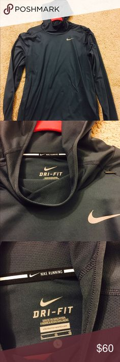 Nike running dri fit NEW without tags Brand new!!! Was too small for husband. Never used! Funnel neck Nike Shirts