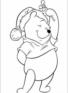 Winnie the Pooh Cute Coloring Pages, Disney Coloring Pages, Christmas Coloring Pages, Coloring Sheets, Adult Coloring, Coloring Books, Kids Coloring, Coloring Pictures For Kids, Coloring Pages For Kids