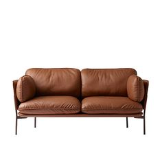 &Tradition Cloud two seater sofa, Elmo brown leather