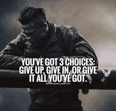 Positive Quotes : You've got 3 choices. - Hall Of Quotes Positive Quotes, Motivational Quotes, Inspirational Quotes, Great Quotes, Quotes To Live By, Awesome Quotes, Daily Quotes, Warrior Quotes, Law Of Attraction Affirmations