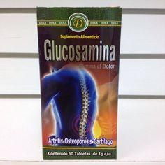 Tabletas Glucosamine, ayuda con la artritis, osteoporosis, elimina el dolor