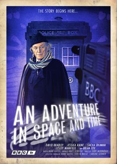 David Bradley as William Hartnell, the First Doctor in a new movie poster for 'An Adventure in Space and Time'.