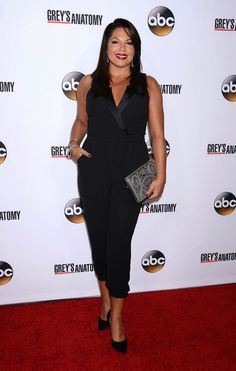 Sara Ramirez (Callie Torres) at the Grey's Anatomy 200th Episode Celebration at The Colony in Los Angeles, California on September 28, 2013