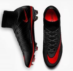 Black/Red Nike superfly