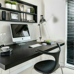 Home office  black and white  hhinspiration  hhreferncia  interior  design inspiration