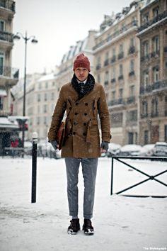men streetstyle winter snow