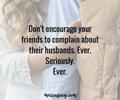 Friends help friends stay married.  | Christian marriage | community | friendship | love |