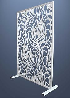 Room divider  Miles and Lincoln   Laser cut screens   Laser cut panels