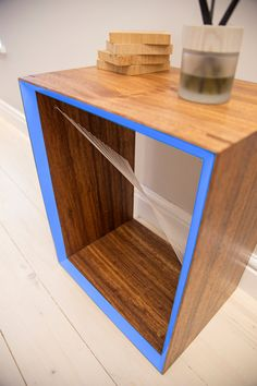Bedside table coffee table side table with by MatHibbertDesigns