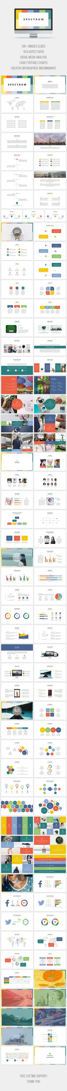 Spectrum PowerPoint Template. Download here: https://graphicriver.net/item/spectrum-powerpoint-template/17218477?ref=ksioks