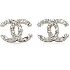 Pre-owned Chanel Interlocking C Earrings ($410) ❤ liked on Polyvore featuring jewelry, earrings, silver, preowned jewelry, pre owned jewelry, chanel jewellery, earring jewelry and interlocking jewelry