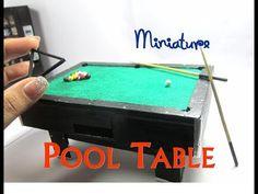 tutorial: miniature pool table