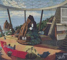 Mid-Century Modern Space Age Futurism: Fresh from Motorola ads by Charles Schridde