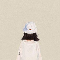 Aesthetic Girl, Aesthetic Anime, Arte Peculiar, Photographie Portrait Inspiration, Digital Art Girl, Cartoon Art Styles, Girl Short Hair, Mode Hijab, Illustration Girl