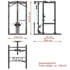 Power Rack Measurements And Dimensions Trx Gym, Crossfit Garage Gym, Gym Workouts, Workout Routines, Diy Gym Equipment, Training Equipment, No Equipment Workout, Home Made Gym, Diy Home Gym