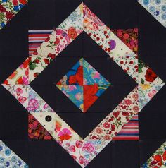 LynneBobSquarePants by Lynne @ Lilys Quilts, via Flickr    directions for 12 block