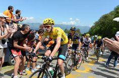 Tour de France 2013 - Chris Froome (Sky) on the final climb of stage 9