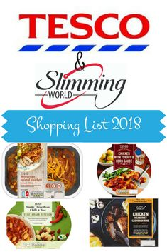 Shopping List of Low Syn and Syn Free foods from Tesco on the slimming world plan 2018. #lowsyn #freefoods #tesco #slimmingworldsyns #slimmingworld