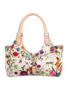 Gucci Floral Canvas Bardot Bag