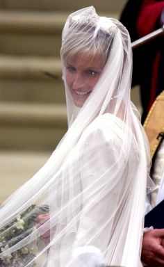 Prince Edward weds Sophie Rhys-Jones June 19, 1999 - she reminds me of Princess Diana in this picture.