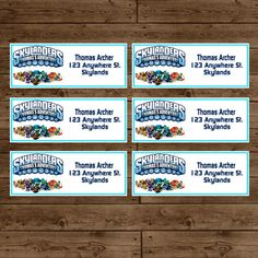 Personalized SKYLANDERS Address Labels - Skylanders Birthday Party - DIY Printable. $10.00, via Etsy.