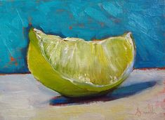 Buy Lime Slice; Original classical still life oil painting., Oil painting by Jackie Smith on Artfinder. Discover thousands of other original paintings, prints, sculptures and photography from independent artists.